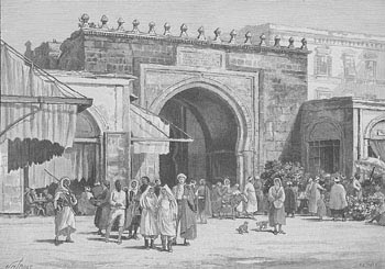 The gate at the town of Bab-el-Bahr in modern Tunisia, which was built by the Romans in the third century AD. It was here that King Gaiseric is said to have viewed the climactic battle of Promontorium Mercurii in 468. It still stands today.